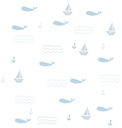 Pattern with whales vector