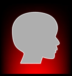 people head style vector image