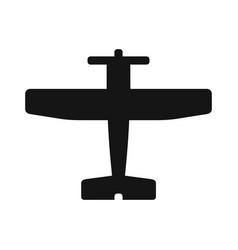 Plane black icon vector