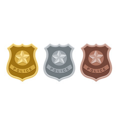 police badges set vector image
