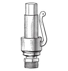 Pop valve vintage vector
