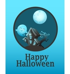 Poster House with ghosts vector image