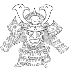 Samurai Japan Mask vector image