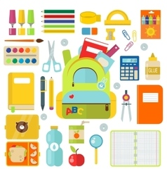 School supplies isolated on vector