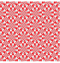 seamless geometrical red white and gray pattern vector image