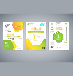 Set business abstract template flyer vector