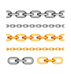 set different seamless chains on white vector image