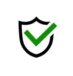 Shield icon lock icon shield with lock symbol vector
