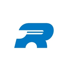 Sign the letter R vector