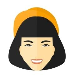 Smiling happy woman vector