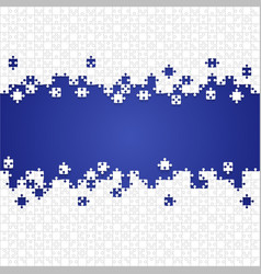 Some white puzzles pieces blue - jigsaw vector