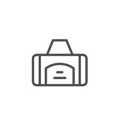 Sport bag line icon vector