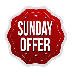 sunday offer label or sticker vector image