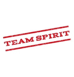 Team Spirit Watermark Stamp vector image