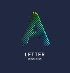 the letter a latin alphabet display vector image