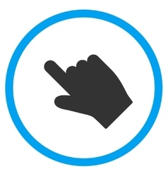 Up Left Index Finger Icon vector