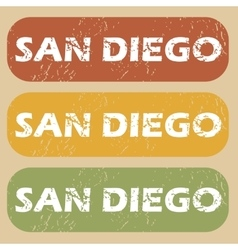 Vintage san diego stamp set vector