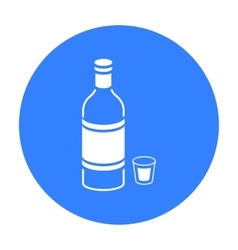 Vodka icon in black style isolated on white vector image