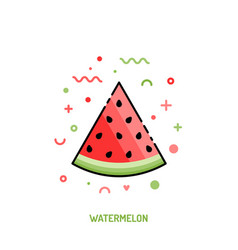 watermelon linear icon vector image