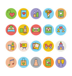 Wedding Colored Icons 2 vector
