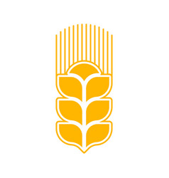 wheat logo abstract agricultural emblem sign vector image