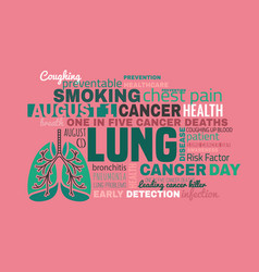 world lung cancer day vector image