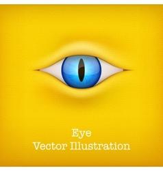 Yellow Background with animal eye vector image