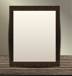 Empty room with wooden floor and frame vector