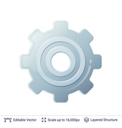 gear icon isolated on white vector image vector image