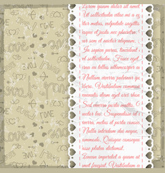 light colored frill romantic pattern vector image