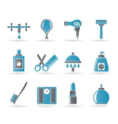 personal care and cosmetics icons vector image vector image