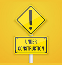 Website Under Construction Road Sign Coming Soon vector image