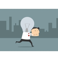 Businessman with fresh great idea vector image vector image