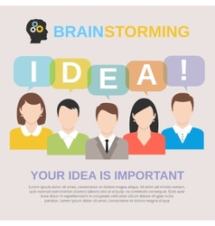 Idea brainstorming concept vector image