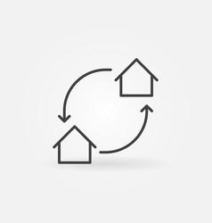 house exchange icon vector image