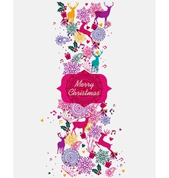 Merry Christmas multicolors postal card vector image vector image