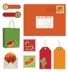 Mexican postage vector image vector image