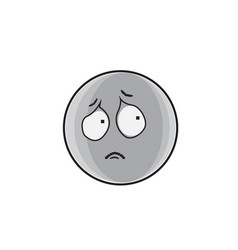 sad cartoon face expression people emoticon emoji vector image