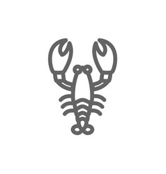 simple lobster line icon symbol and sign vector image vector image