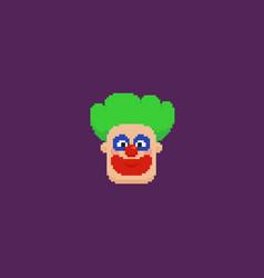 pixel art clown vector image vector image