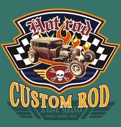vintage hot rod garage vector image