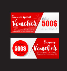 015 collection of summer sale promotion voucher vector image