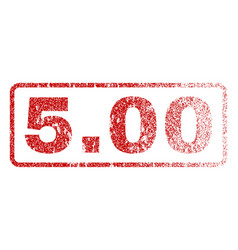 500 rubber stamp vector image