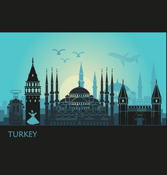 Abstract landscape istanbul with main vector