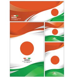 Abstract niger flag background vector