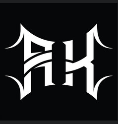 Ak logo monogram with abstract shape design vector