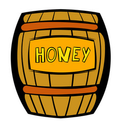 barrel with honey icon icon cartoon vector image