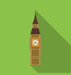 big ben icon in flat style isolated on white vector image