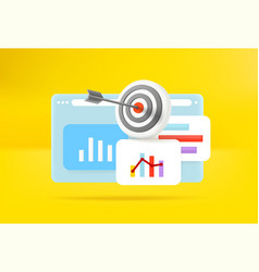 Business report with different charts vector
