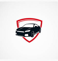 Car secure logo designs concept icon element and vector